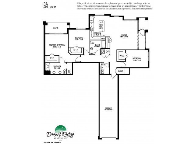3 Bed 2 Bath Style A