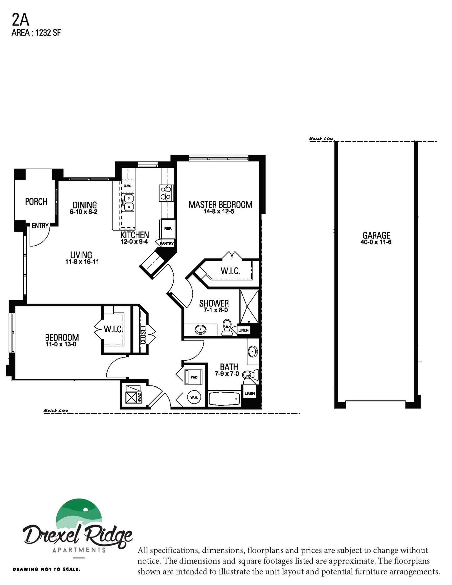 2 Bed 2 Bath Style A