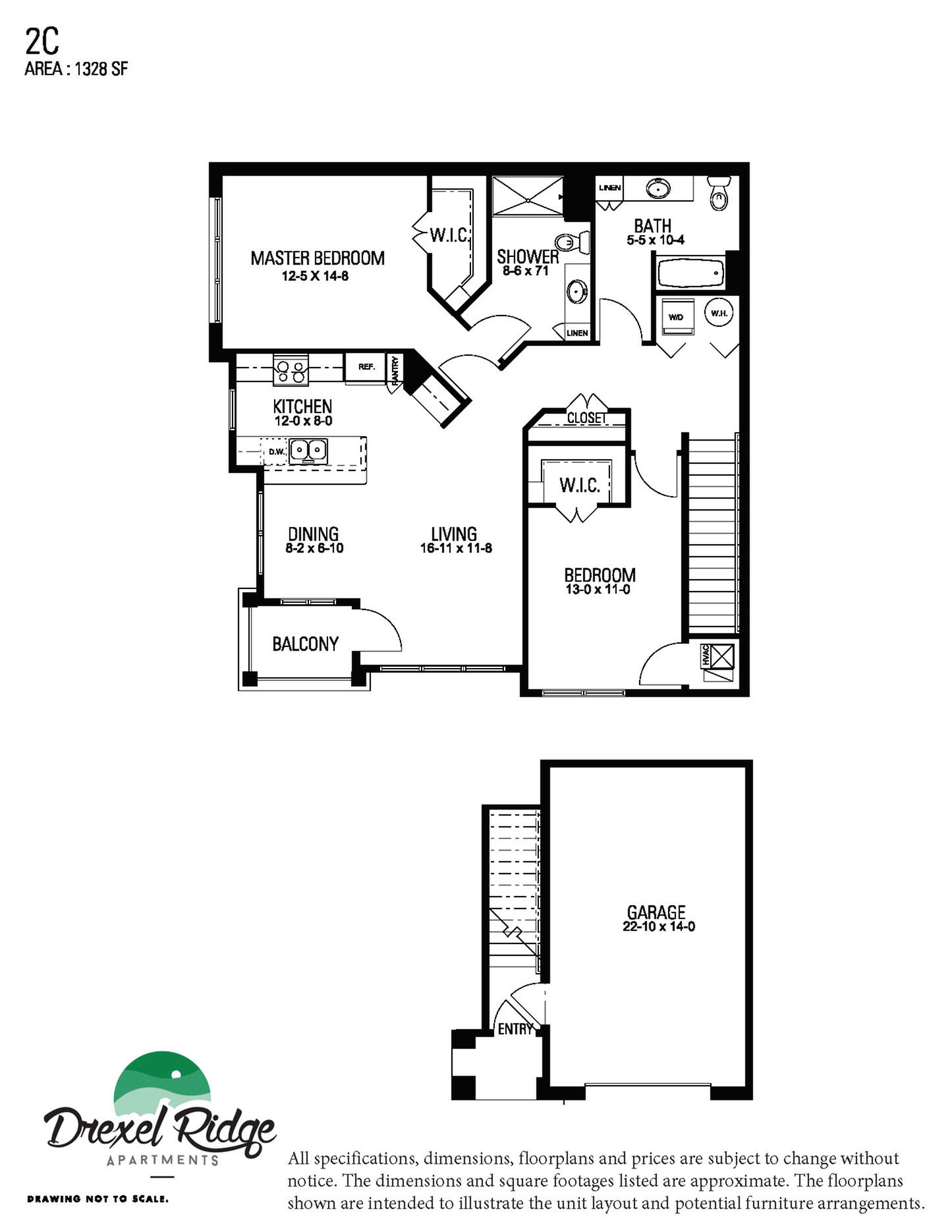 2 Bed 2 Bath Style C