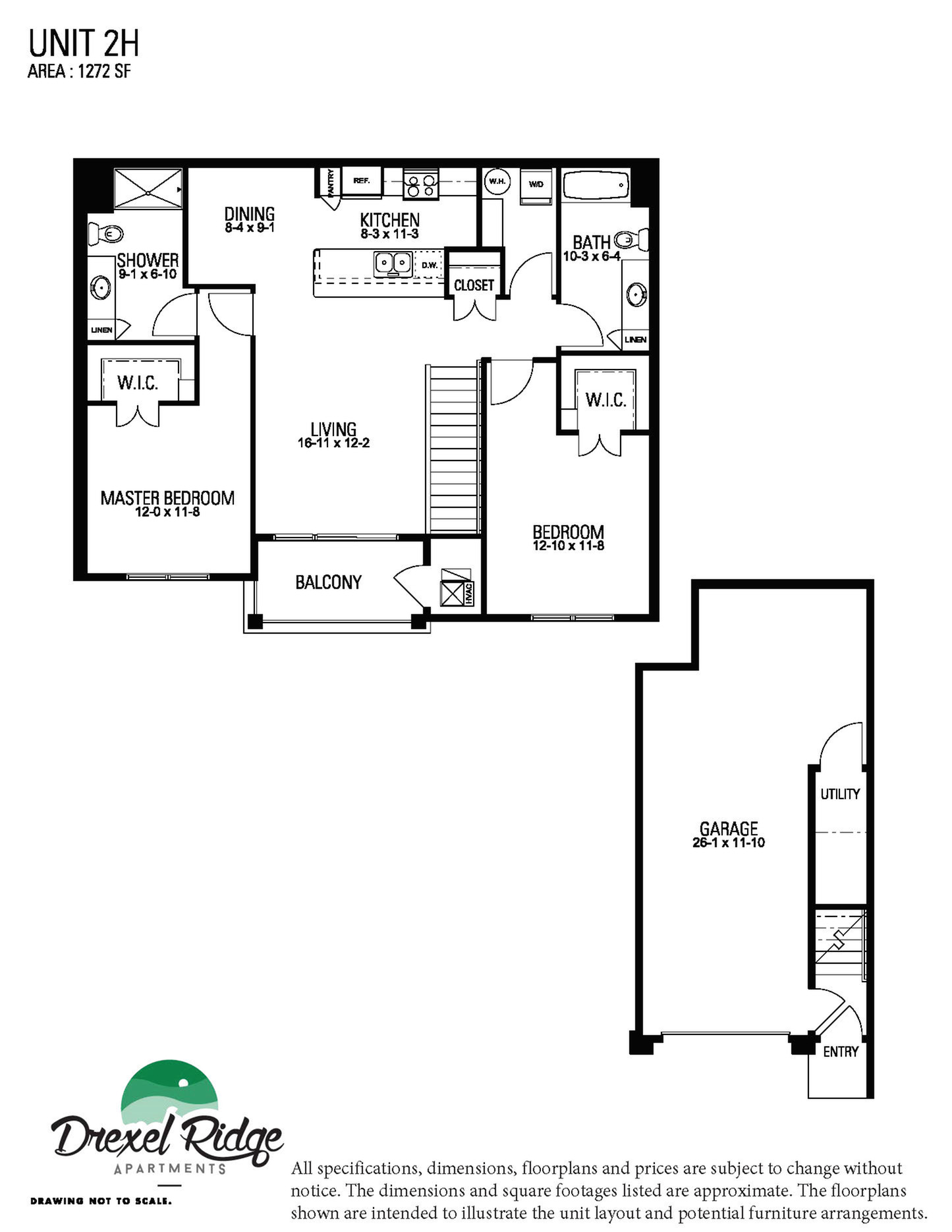 2 Bed 2 Bath Style H