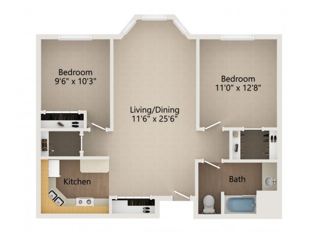 2 3 2 Bed Apartment Eau Claire Oakwood Homes
