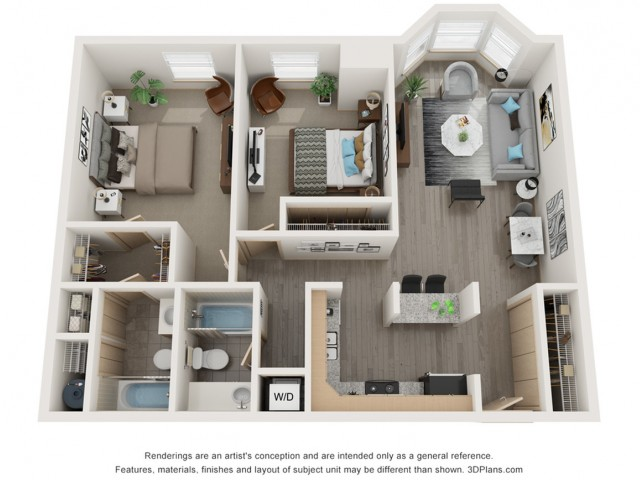 Two Bedroom Paired