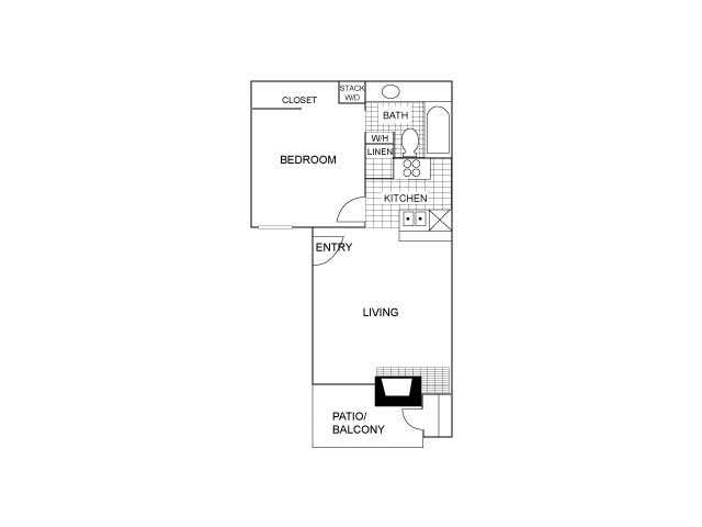 One Bedroom | 550 sqft