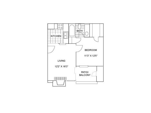 One Bedroom | 510 sqft