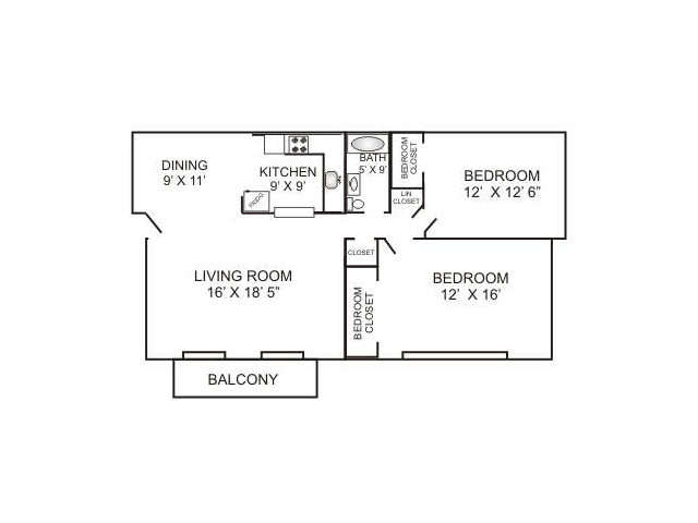Two Bedroom | 880 sqft