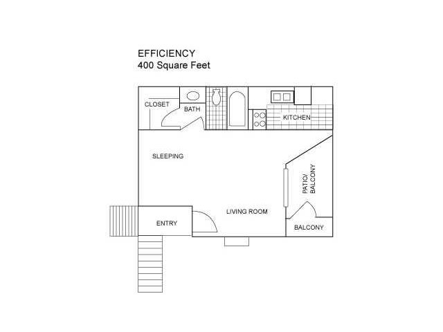 Floor Plan 1 | Luxury Apartments In Austin Texas | Centennial Place Apartments