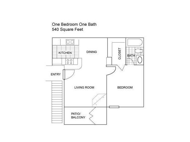 Floor Plan 2 | Apartments In Austin Tx | Centennial Place Apartments