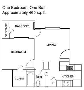 One Bedroom | 460 sqft
