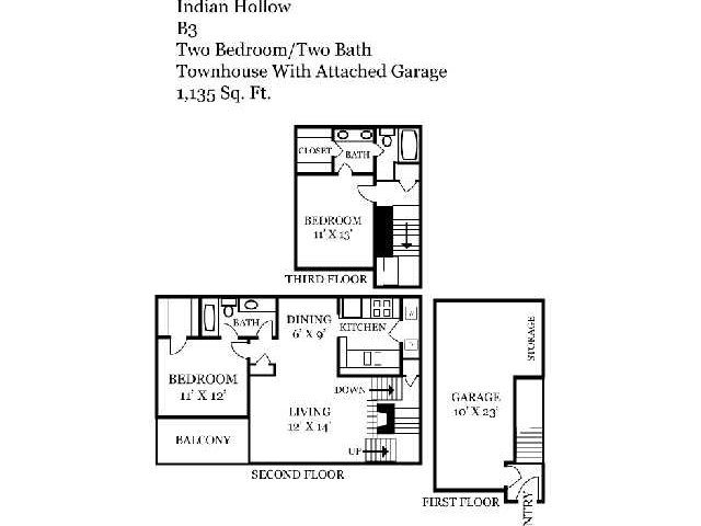 Two Bedroom | Two Bathroom | 1135 sqft