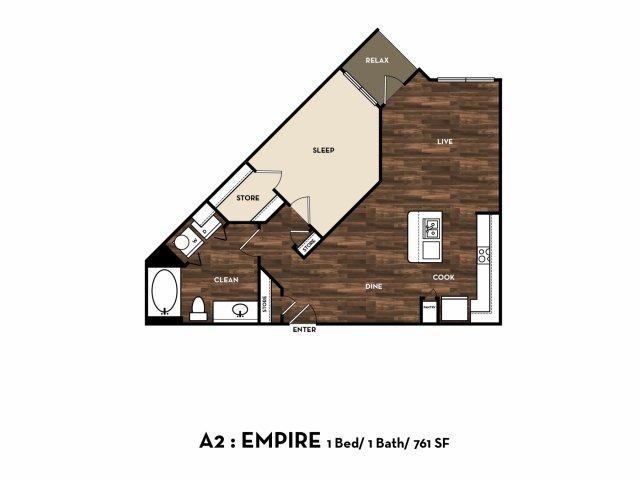 Floor Plan 5   Apartment For Rent In San Antonio Tx   1800 Broadway
