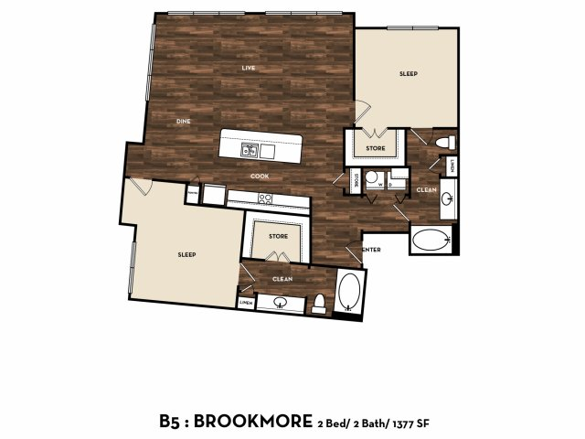 Floor Plan 12 | San Antonio Apartments | 1800 Broadway