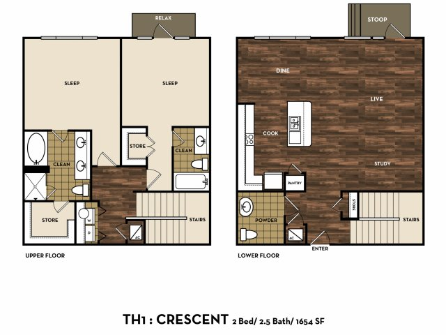 Floor Plan 13 | Luxury Apartments In San Antonio Texas | 1800 Broadway