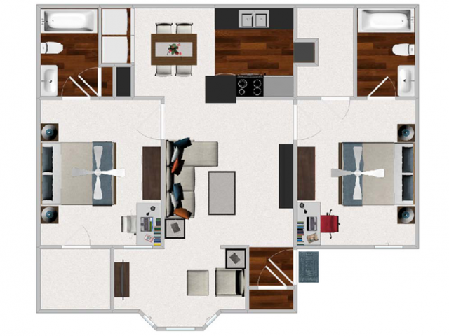 For The 2 Bedroom Morning Room Floor Plan.