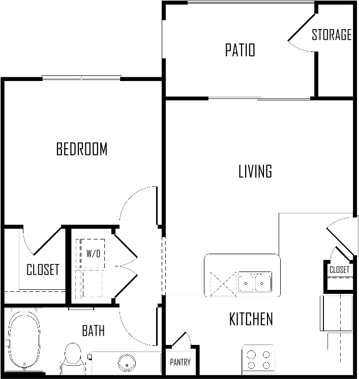 One Bedroom | 625 sqft
