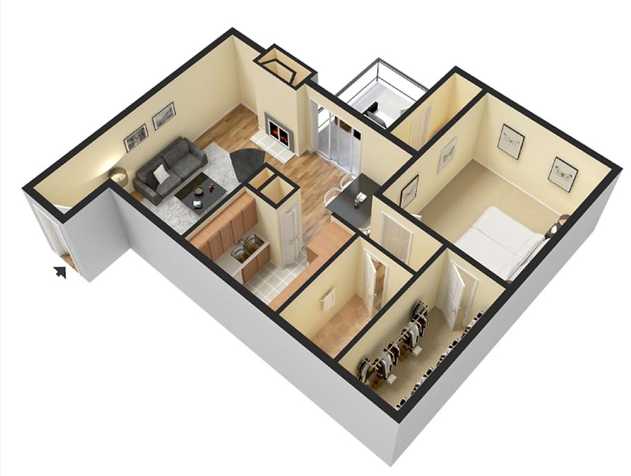 One Bedroom 800sqft