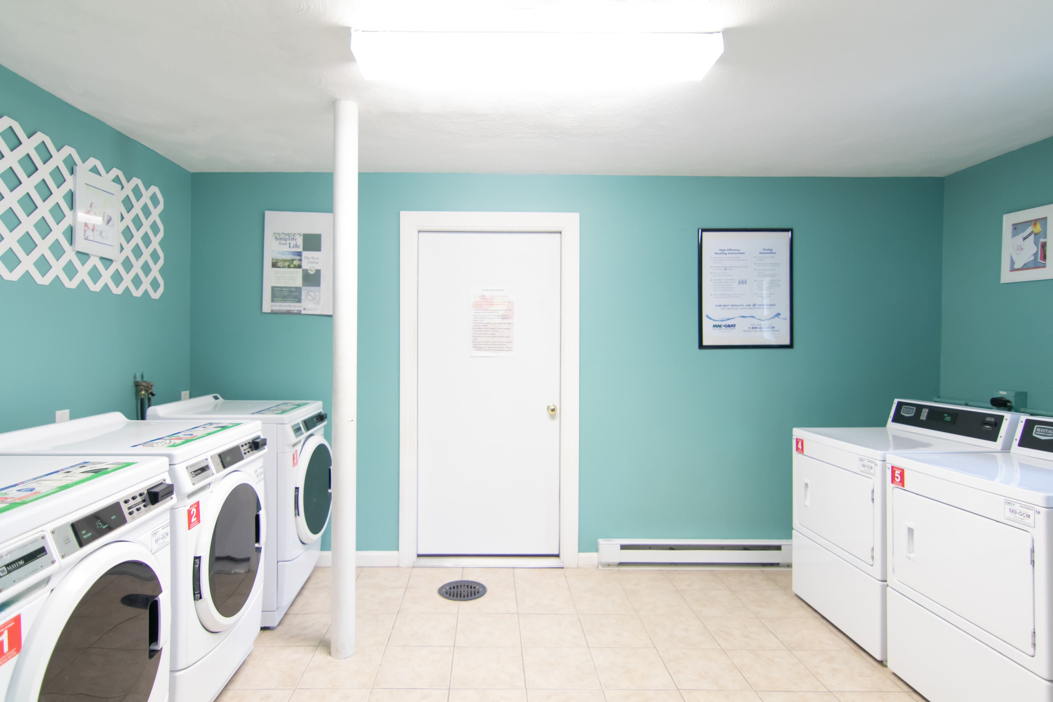 Laundry Center | In Each Building | Heritage Gardens Apts