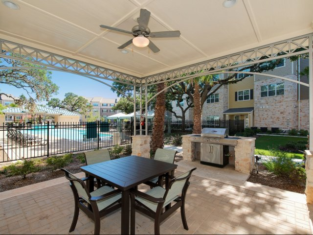 Picnic and Grilling Area | Pool Side | Siena on Sonterra Apts