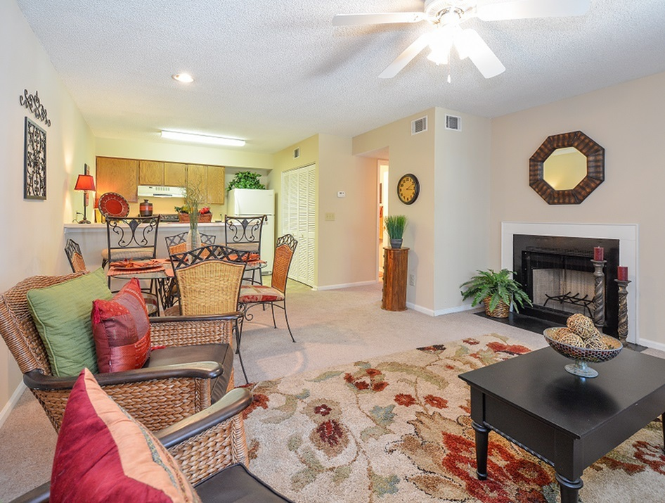 Two Bedroom | Ashley | Fireplace | Middleton Cove Apts