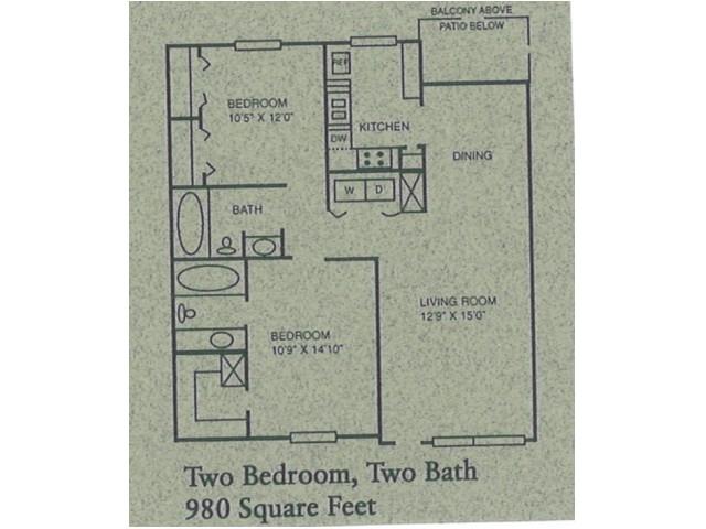 2 bed/2 bath