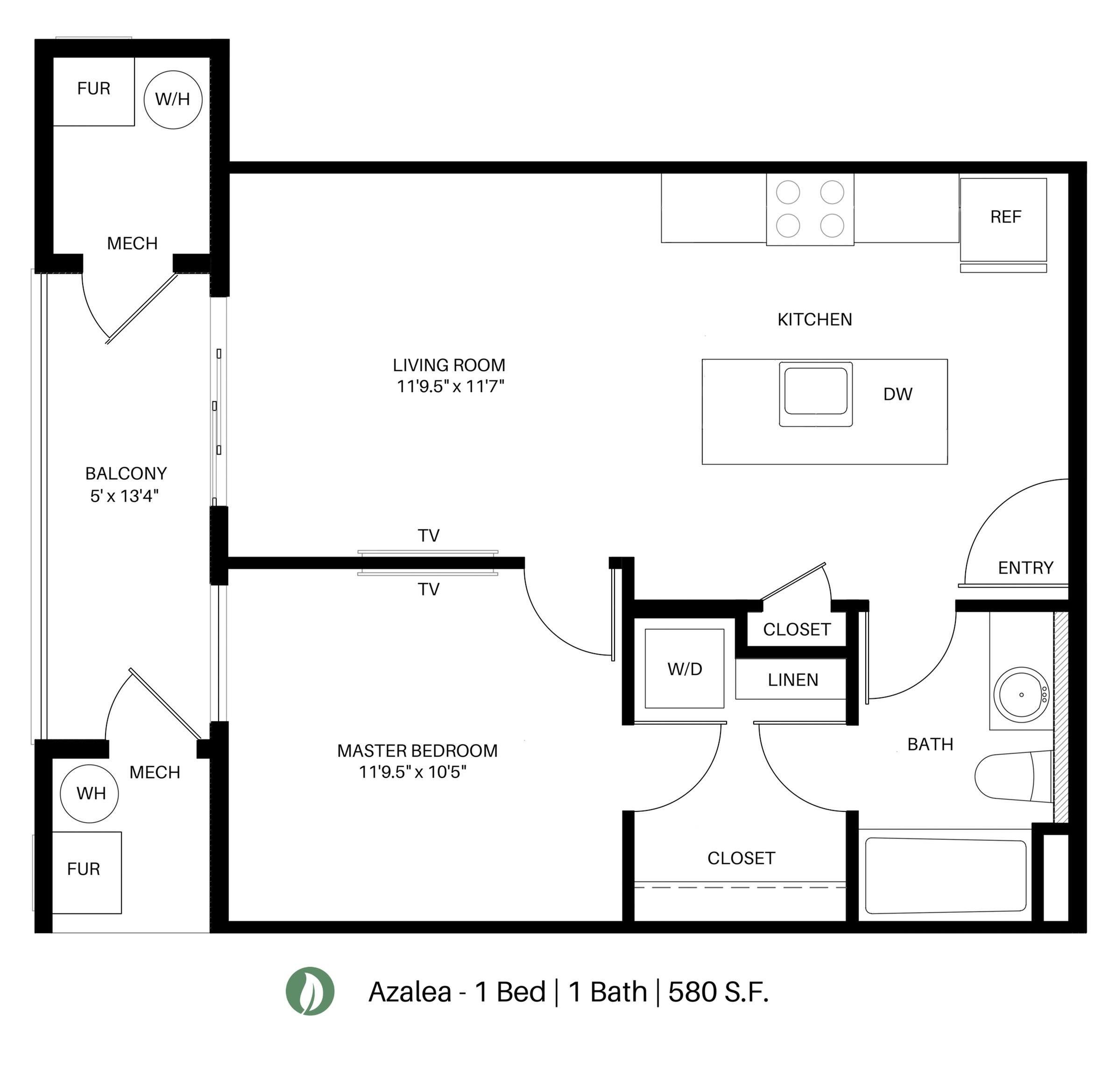 The Azalea Floor Plan Layout