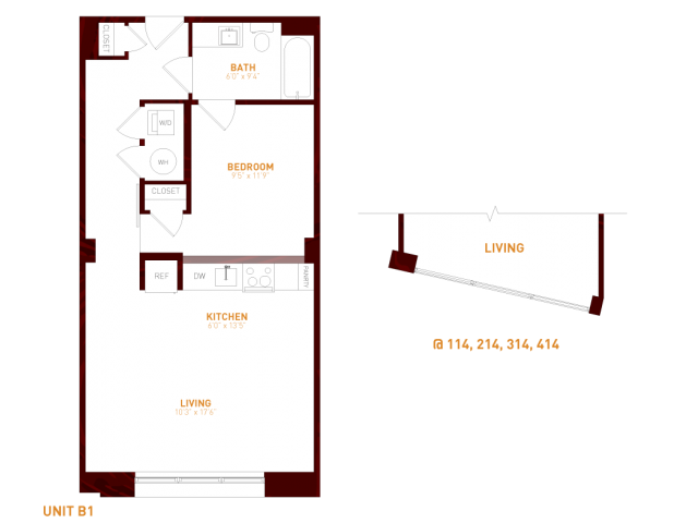 View Brookland Press's Foundry 209  Apartment Floor Plan in DC