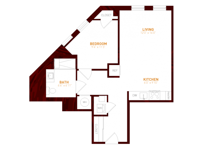 View Brookland Press's Foundry 120  Apartment Floor Plan in DC