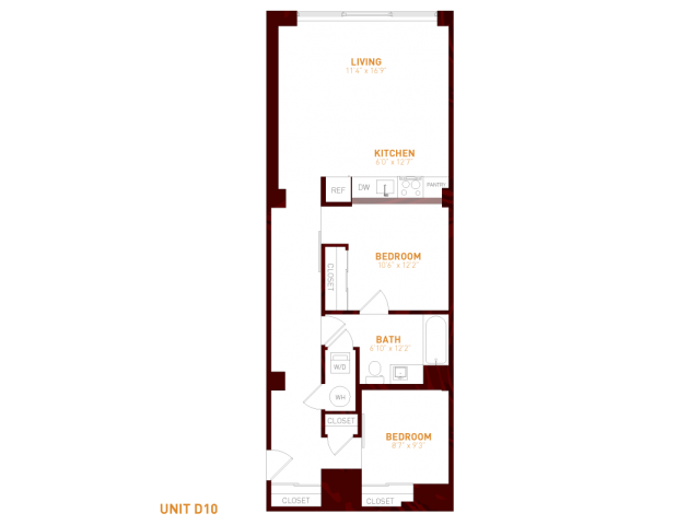 View Brookland Press's Foundry 121  Apartment Floor Plan in DC