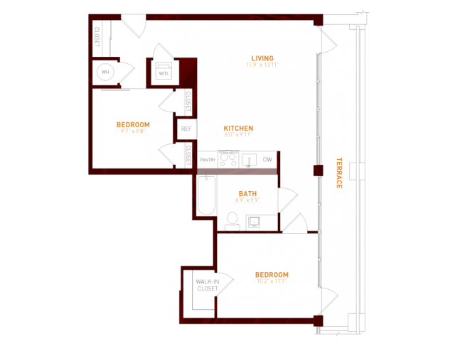 Brookland press apartment floor plans in brookland dc for 1200 first street ne 5th floor