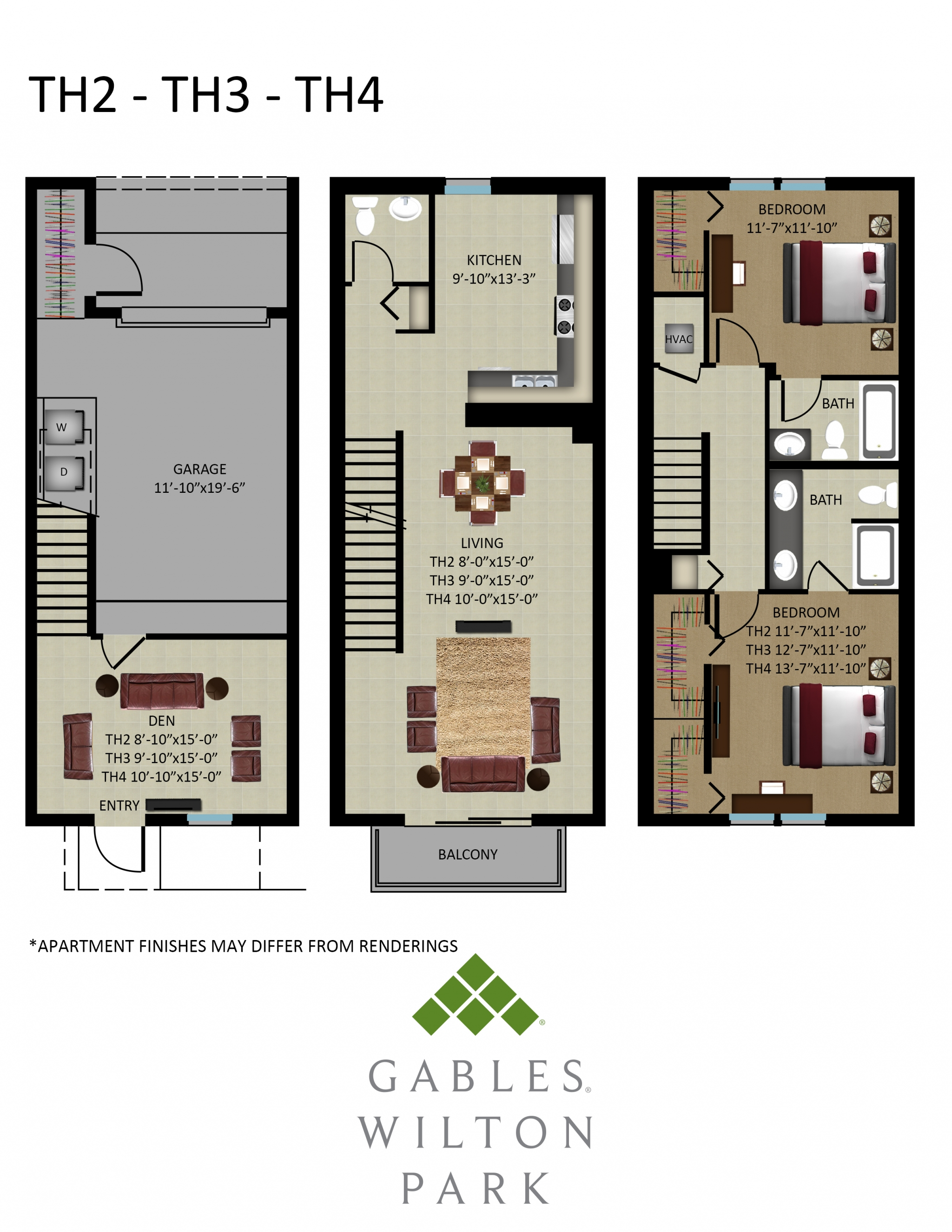 2 Bed / 2.5 Bath Apartment in Wilton Manors FL | Gables ...
