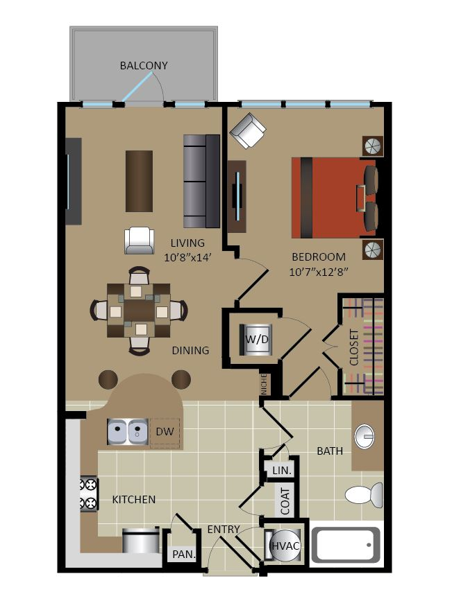 1 Bed / 1 Bath Apartment in Atlanta GA | Gables Midtown