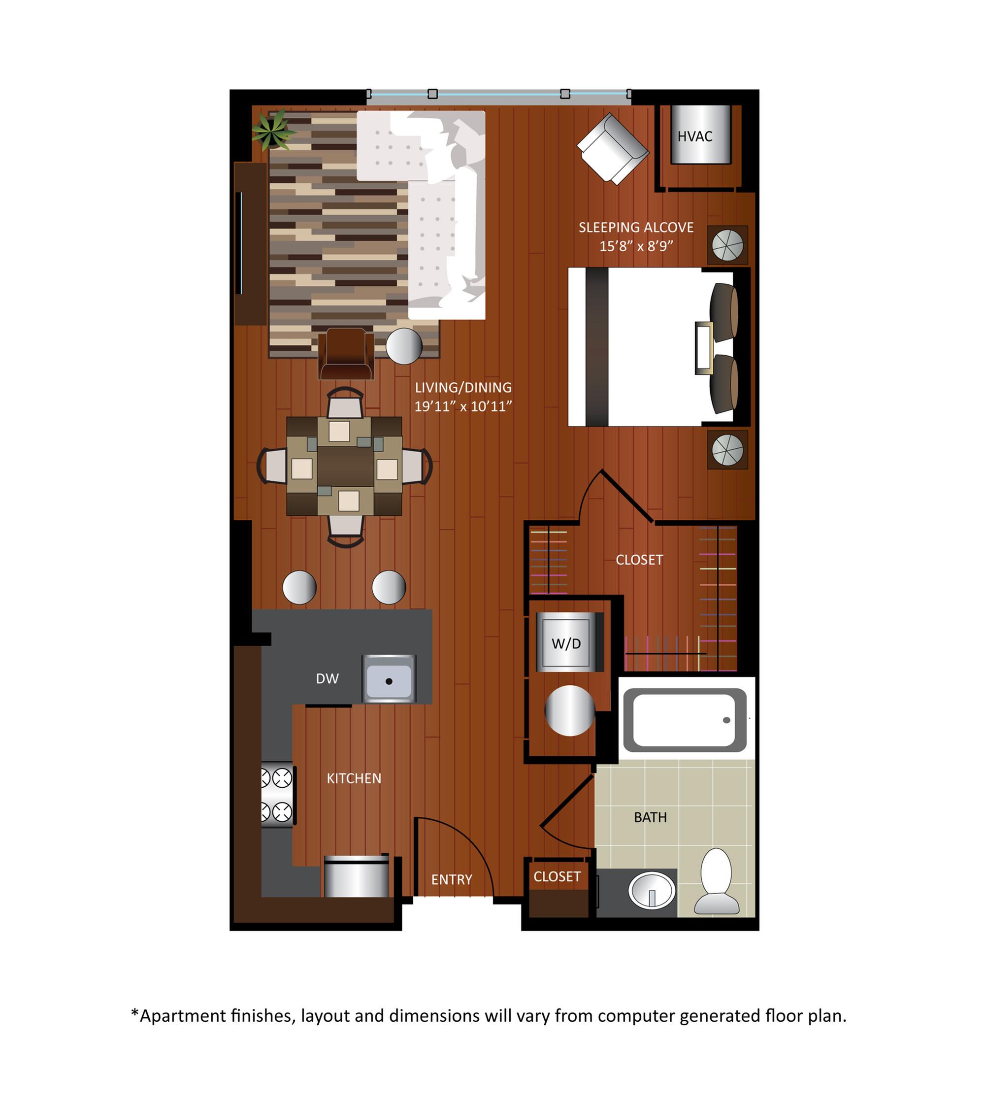 Studio/ 1 Bath Apartment in Washington DC | Gables City Vista