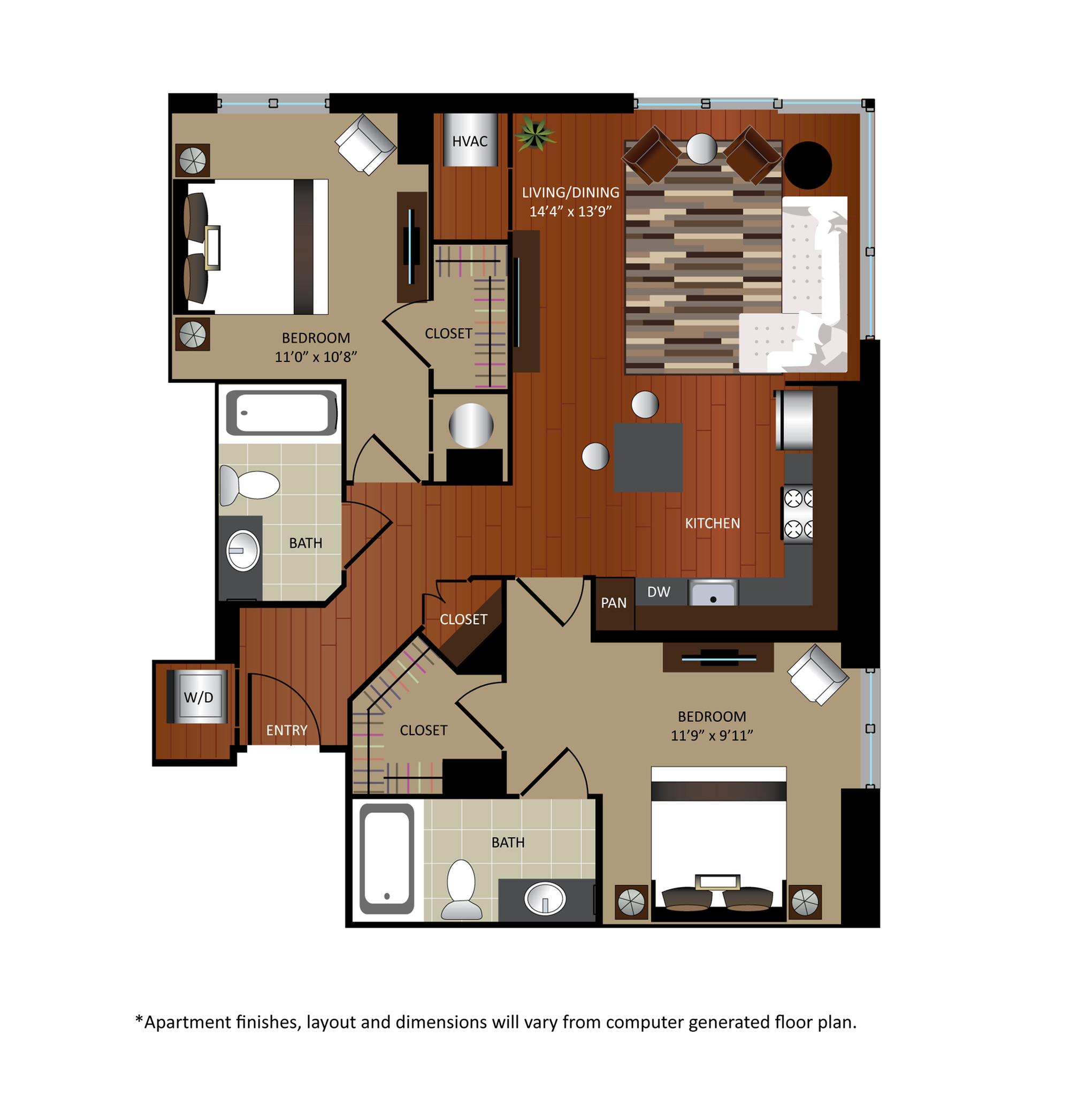 2 Bed / 2 Bath Apartment in Washington DC | Gables City Vista