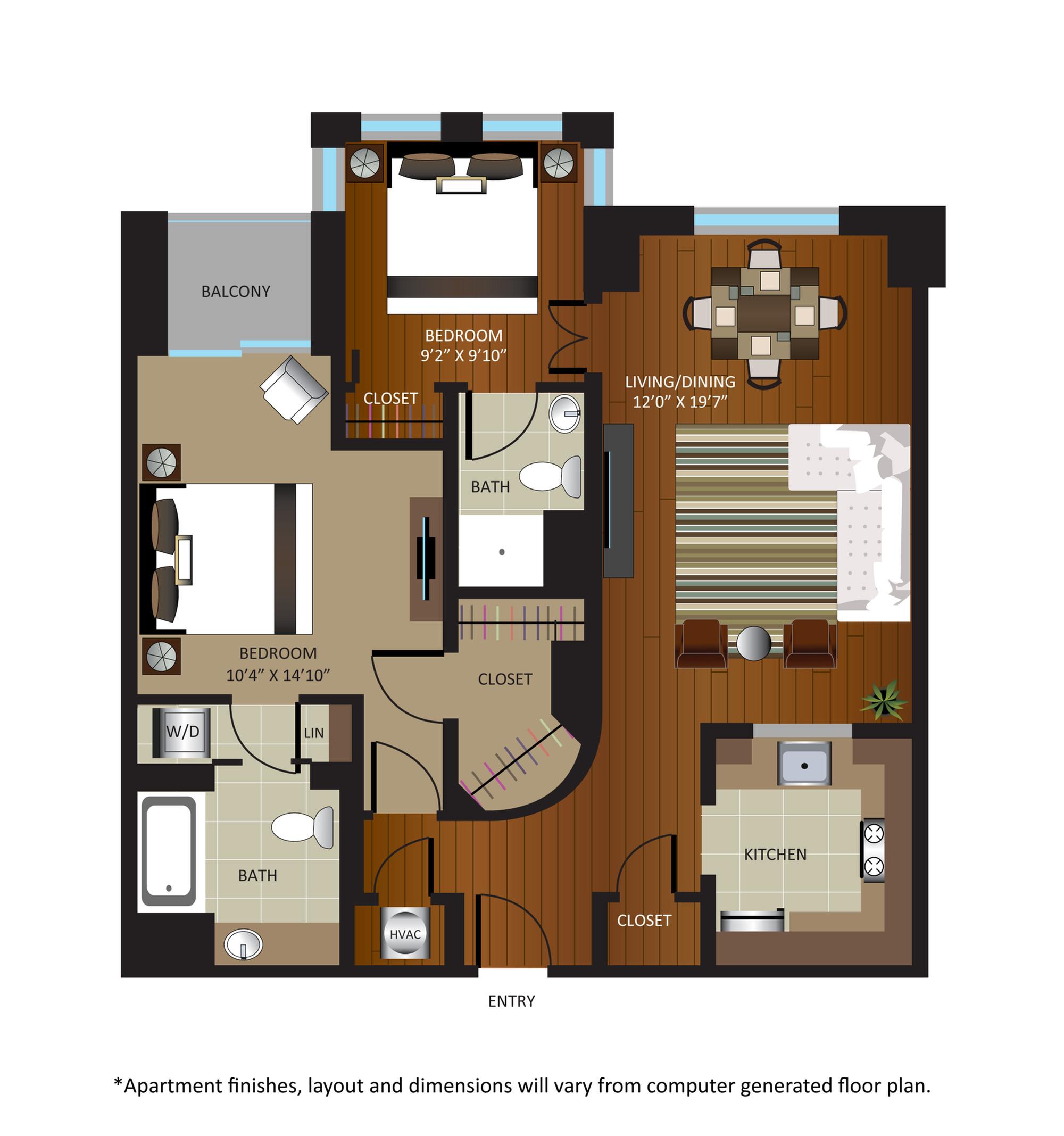 2 Bed / 2 Bath Apartment in Washington DC | Gables Dupont Circle