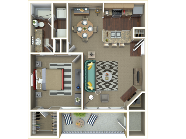 Manhattan, KS 1 & 2 Bedroom Apartments | Floor Plans & Layouts ...