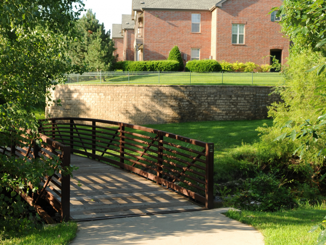 Scenic walks at the apartments in Overland Park KS.