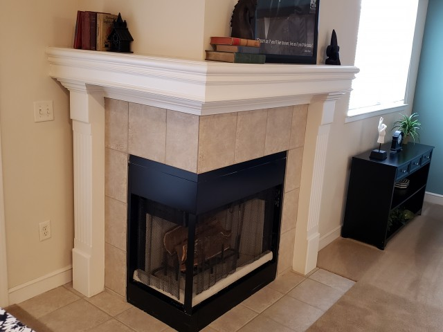 Image of Fireplace for The Woods of Cherry Creek Apartment Homes