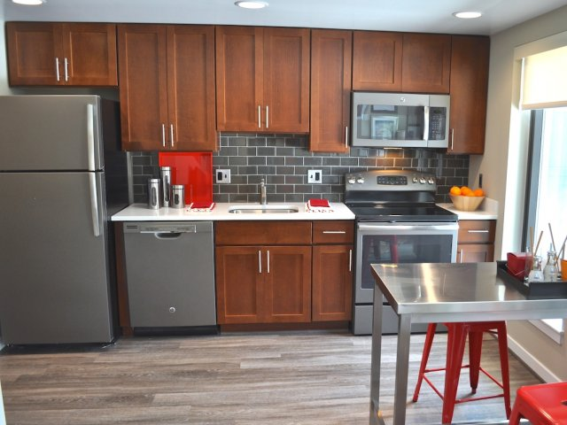 Image of Modern Cabinetry with Contemporary Finishes for Virginia Square Towers