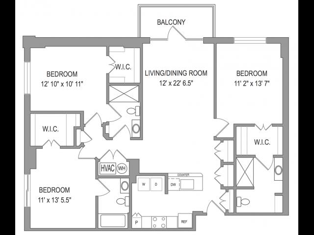 3 Bedroom Apartments in Arlington VA   Henderson Park 1