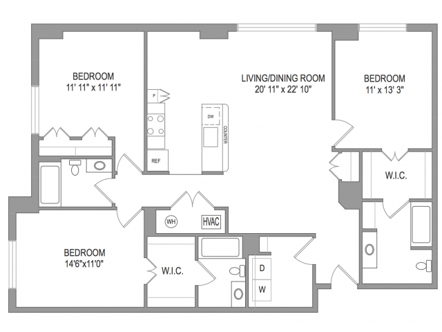 Arlington Apartments | Thomas Court | Floorplan 6