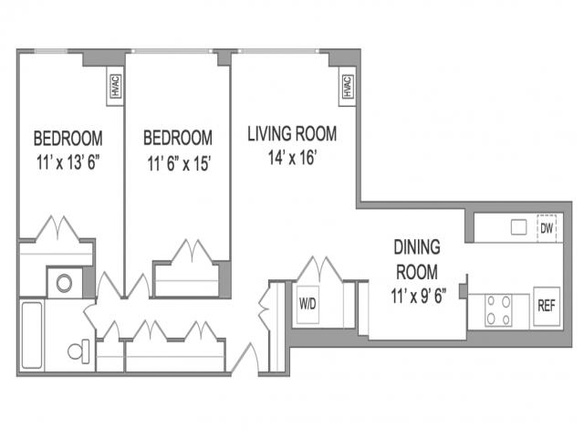 48 Bed 48 Bath Apartment In Arlington VA Wildwood Park Extraordinary 2 Bedroom Apartments Arlington Va