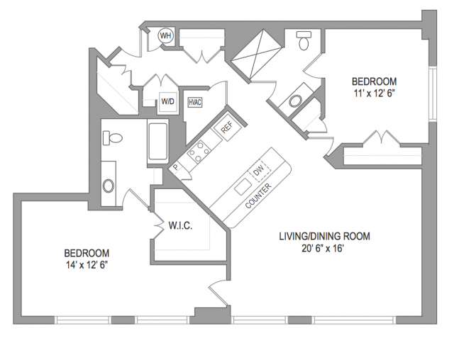 2 Bedroom Arlington Virginia Apartments | Birchwood