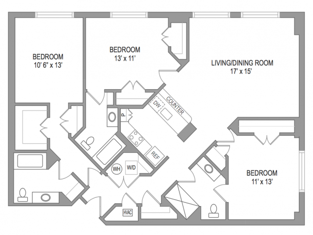 3 Bedroom Arlington Virginia Apartments | Birchwood 2