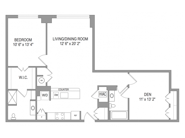 Arlington Apartments | Thomas Court | Floorplan 1