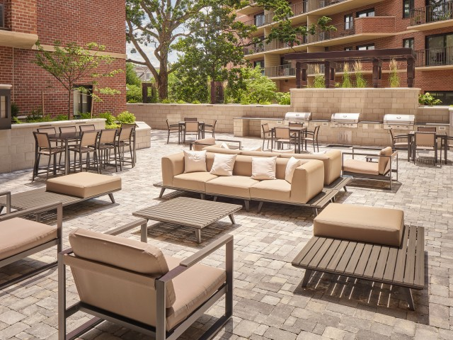 Ample outdoor seating area