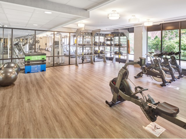 TRX zone with spin bikes