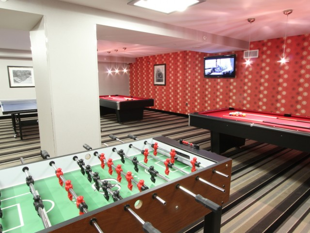 Resident Pool Table | Arlington High Rise Apartments | Randolph Towers