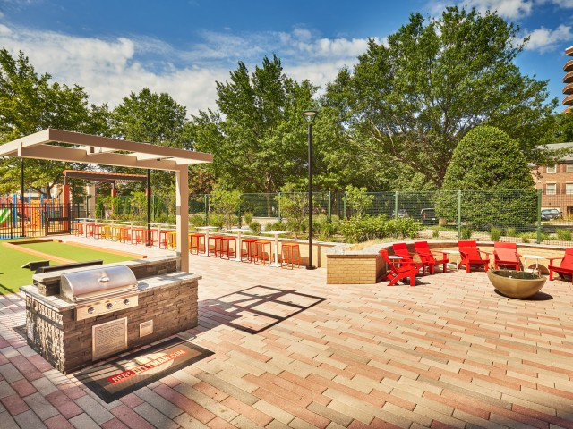 Bocce Ball Court and Outdoor Fire Pit