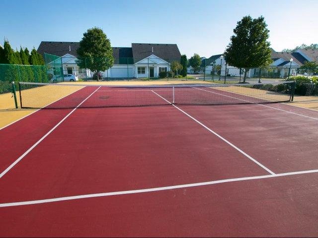 Tennis court at The Village at Avon Apartments in Avon, OH.