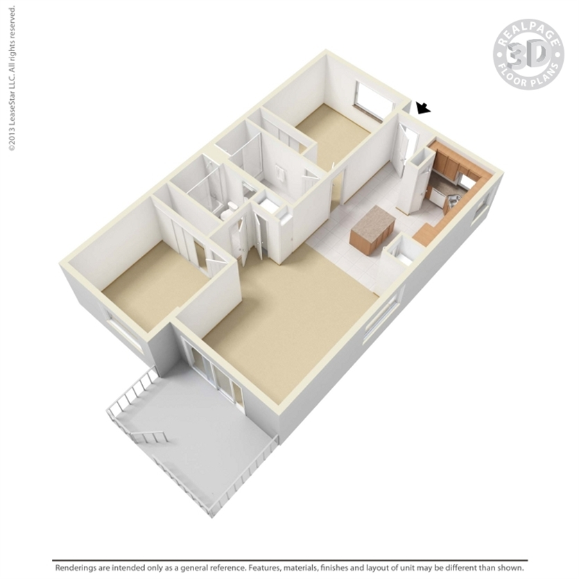 2bd/2ba-1ST-4TH-floor plan