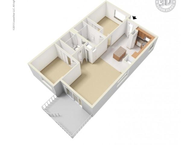 2bd/2ba-5TH-floor plan